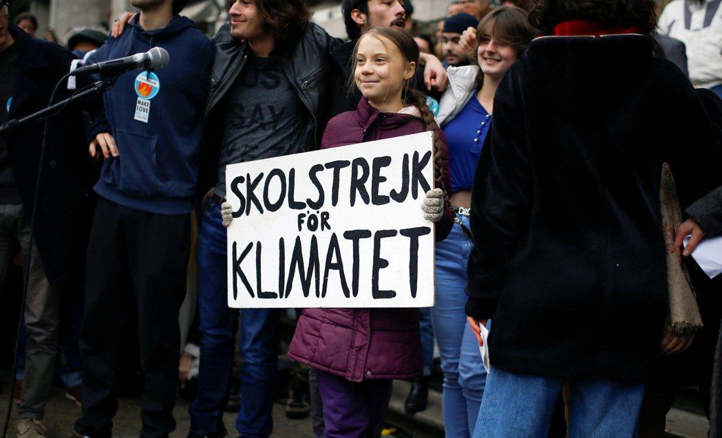 瑞典氣候少女童貝里。路透