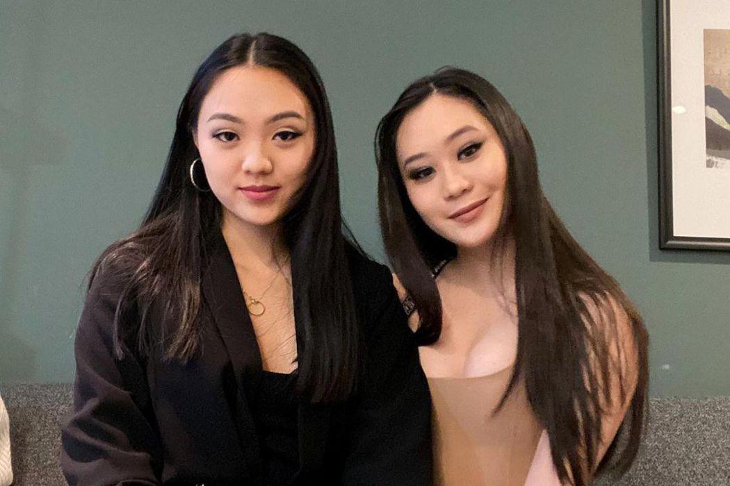 李連杰18歲么女Jada(左)po出為姊姊Jane慶生的合照,姊妹身材不輸媽。圖