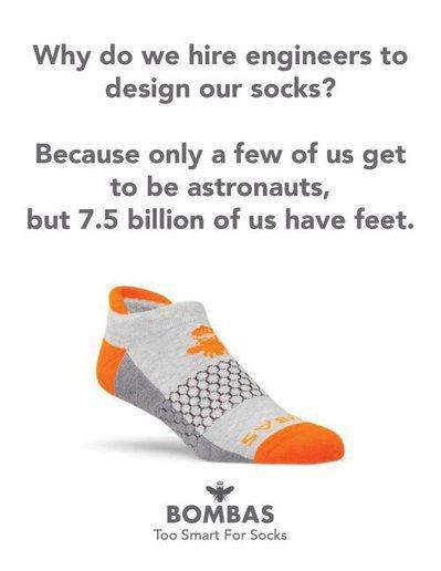 「我們為什麼請工程師設計襪子?因只有少數人可以成為太空人,但全球75億人都有腳需...