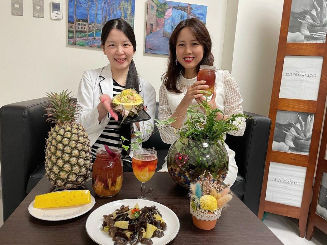 黃琳惠營養師表示,只要有正確的飲食觀念,素食者一樣能維持健康體態且營養滿分。圖片由中醫大提供