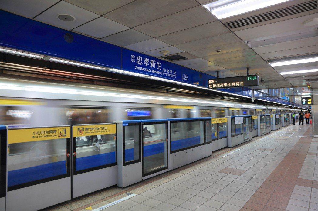 圖說:捷運忠孝新生站