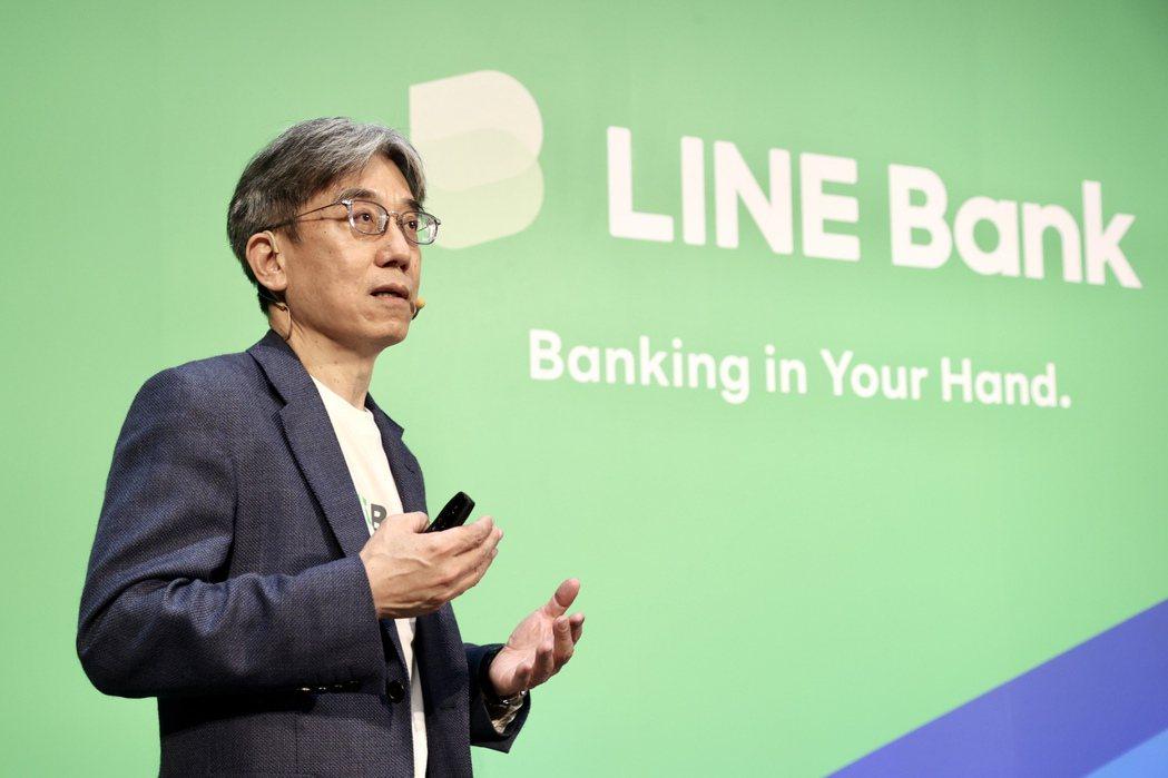 LINE Bank總經理黃以孟。圖/林俊良攝