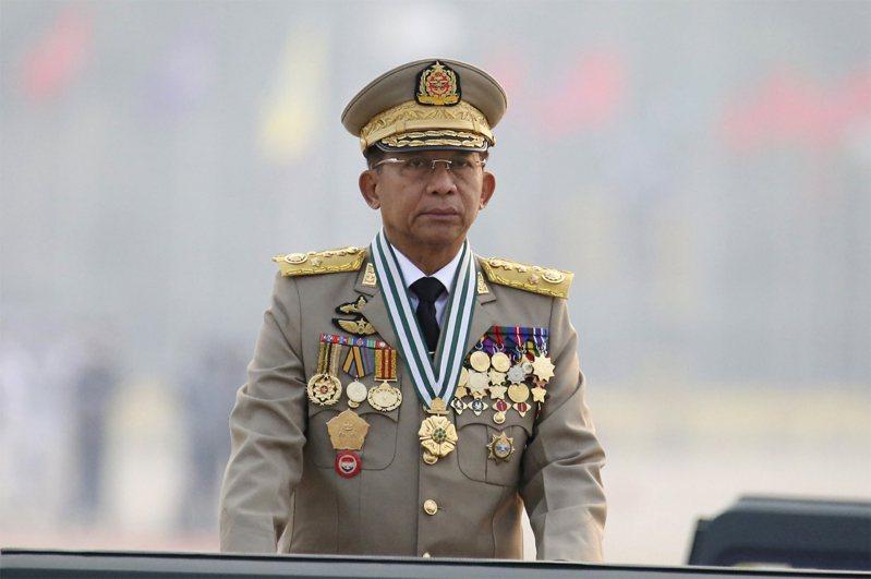 緬甸軍政府領導人敏昂萊。美聯社