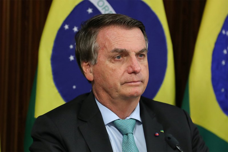 巴西總統波索納洛。路透