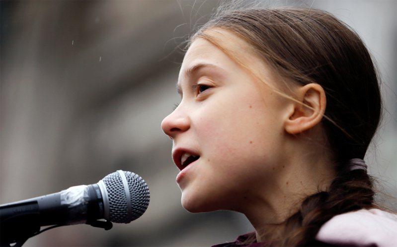 瑞典環保少女童貝里。路透