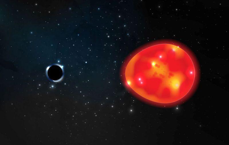 《皇家天文學會月報》最新研究指出,一個近期發現、名為「獨角獸」的黑洞,可能是目前已知規模最小、離地球最近的黑洞。路透