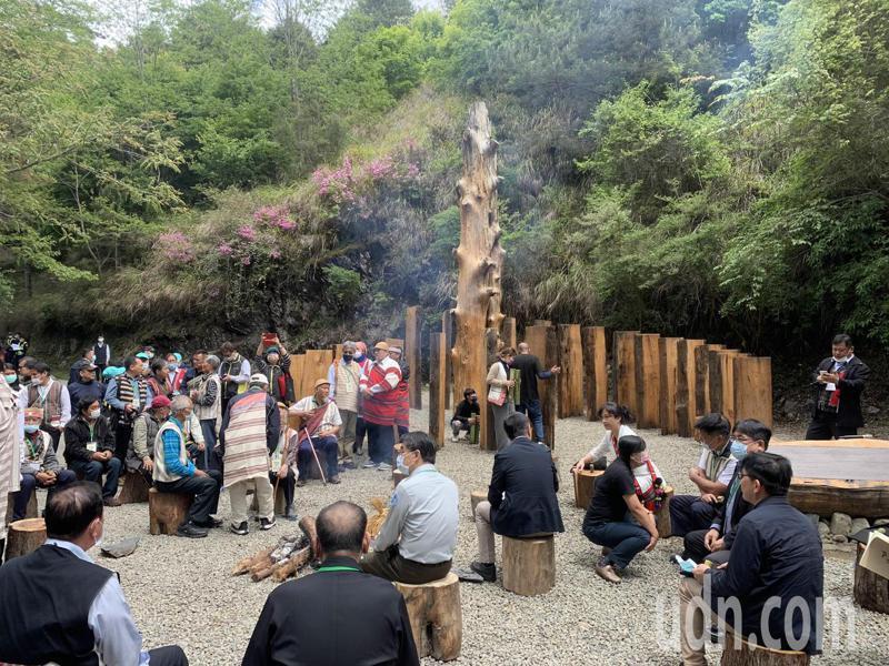 觀霧國家森林遊樂區泰雅爾祖靈紀念廣場,舉行Sbalay和解儀式。記者巫鴻瑋/攝影
