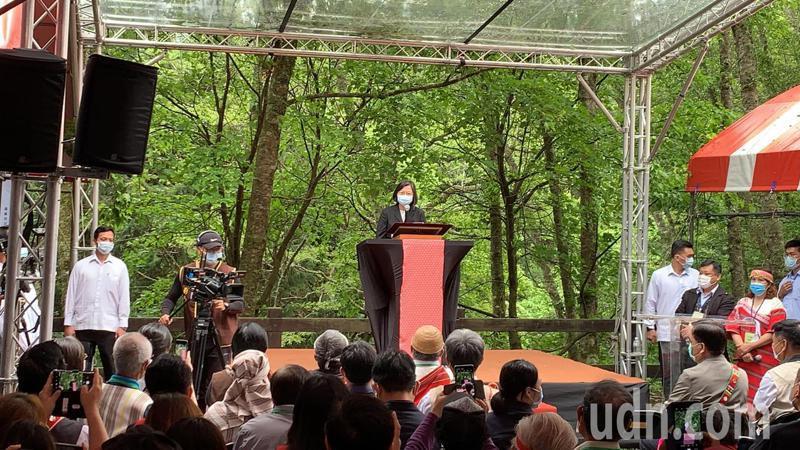 總統蔡英文出席見證Sbalay和解儀式,承諾將持續努力,讓原民歷史記憶為台灣社會的主要觀點。記者巫鴻瑋/攝影