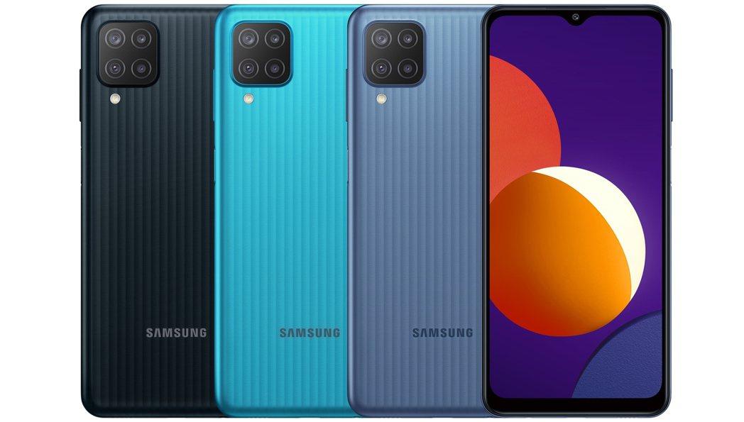 三星推「超鯊機」Galaxy M12 售4990元線上獨賣。三星/提供