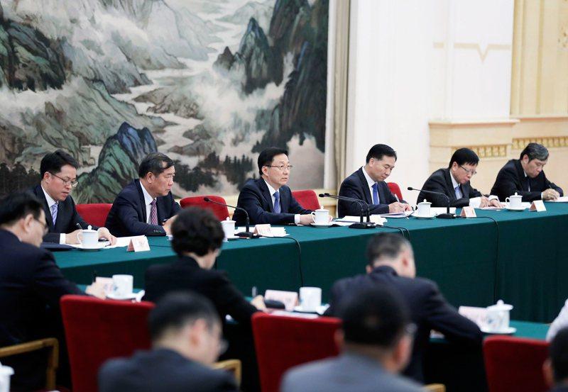 大陸國務院副總理韓正22日表示,要紮實推進粵港澳重大合作平台建設。(圖/取自新浪...