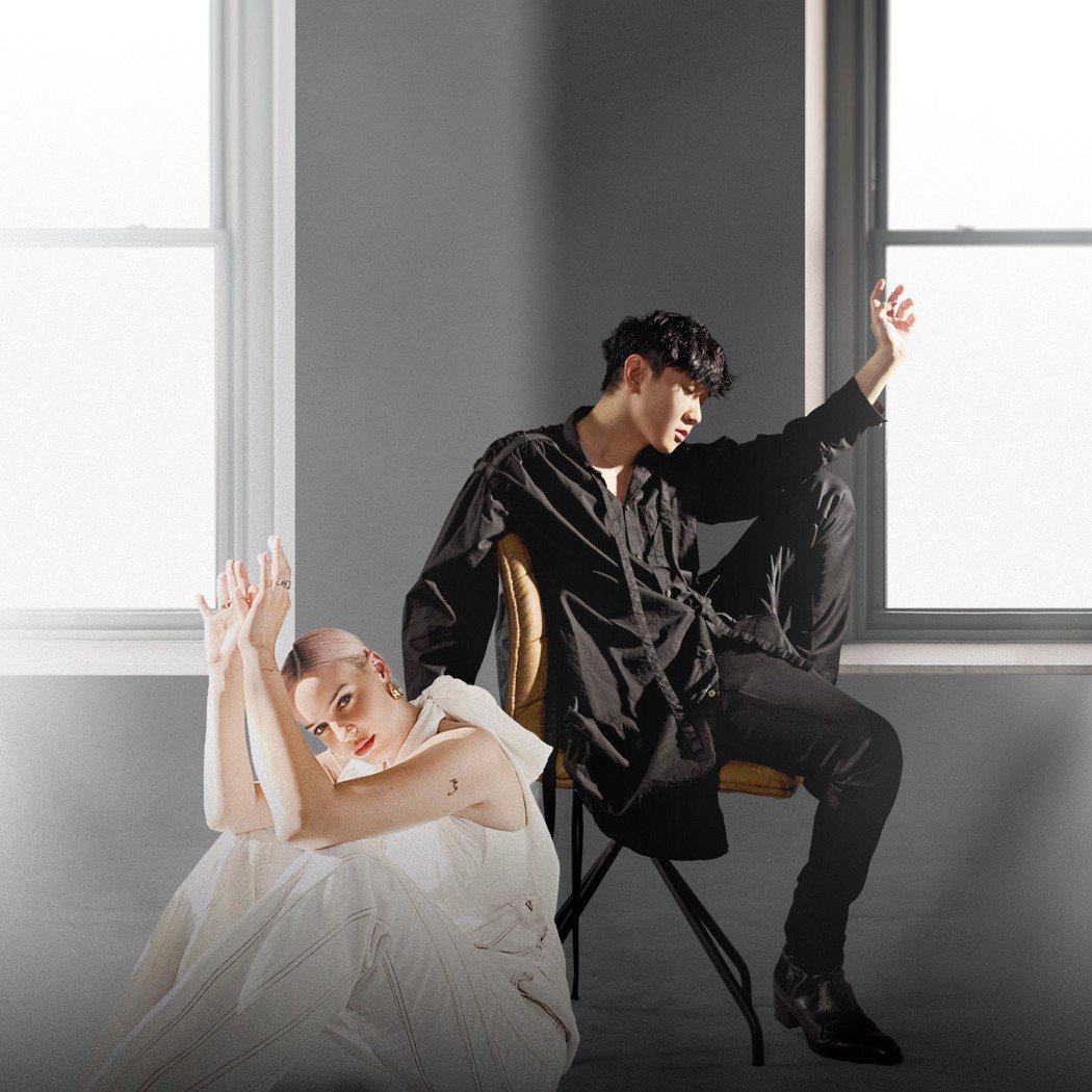 JJ(右)英文新歌「Bedroom」,邀來「英倫冠軍歌姬」Anne-Marie合...