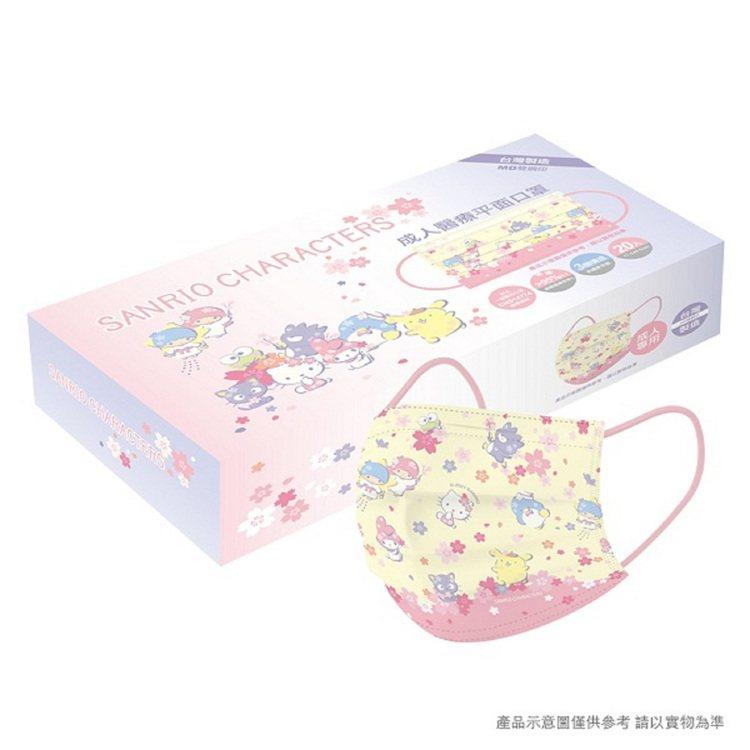 momo購物網今天(4月23日)上午9點起開賣「三麗鷗系列-櫻花成人醫療口罩」,...