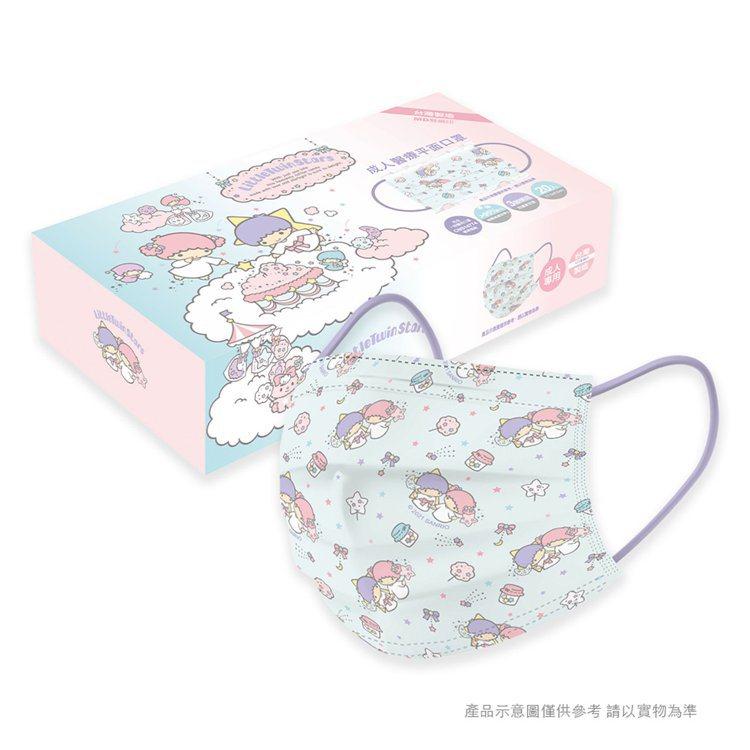 momo購物網今天(4月23日)上午9點起開賣「三麗鷗系列-雙子星成人醫療口罩」...