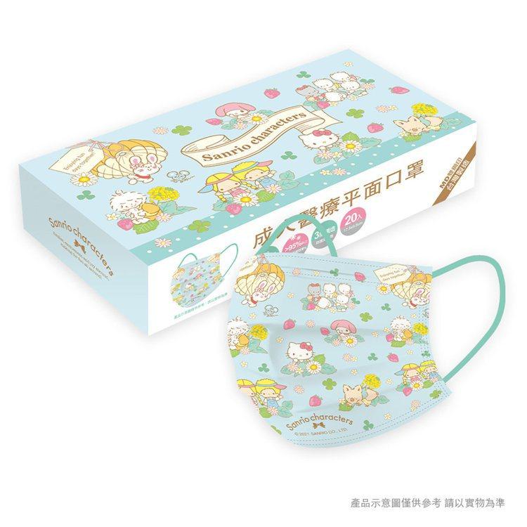 momo購物網4月30日上午9點起開賣「三麗鷗系列-草莓園成人/兒童醫療口罩」,...