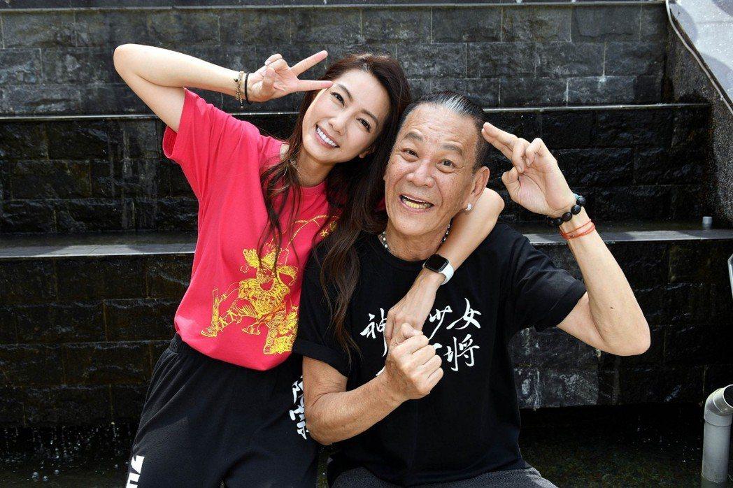 龍劭華、林韋君在劇中父女關係緊繃,戲外像一對活寶。圗/華視提供
