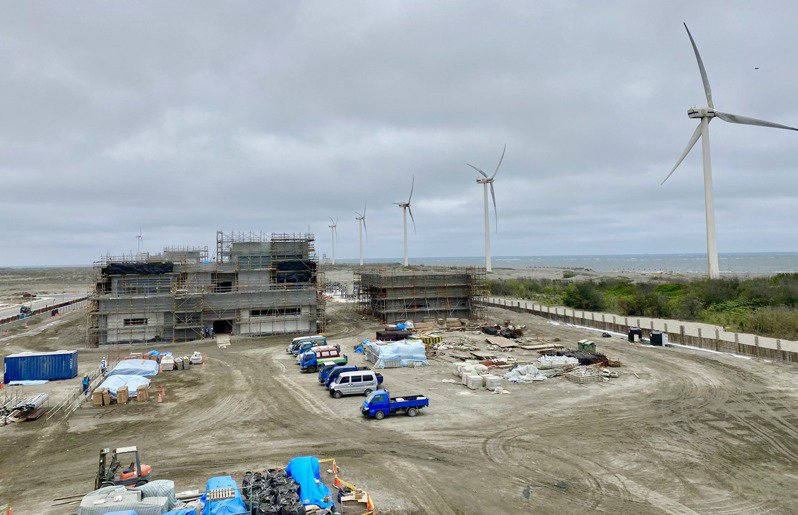 沃旭大彰化東南及西南風場陸上變電站興建工程不受疫情影響,進度一切順利。記者宋健生/攝影