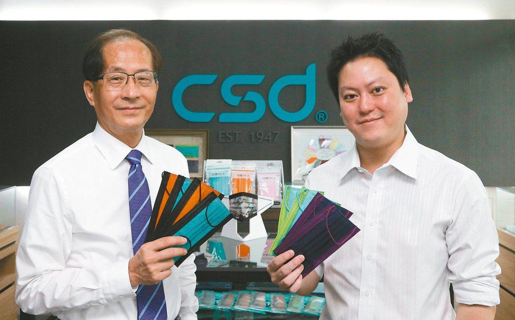 中衛董事長兼總經理張豐聯(左)與營運長張德成。(本報系資料庫)