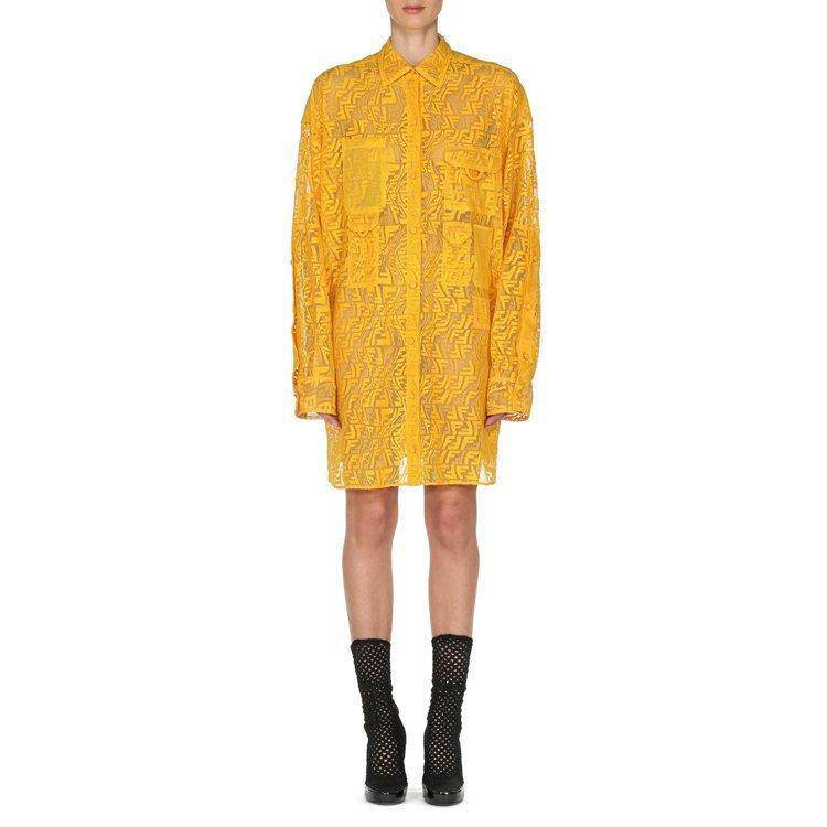 FENDI Vertigo蕾絲透視洋裝,67,000元。圖/FENDI提供