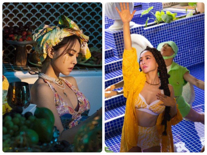 蔡依林在「Stars Align」MV中舉手投足都是性感風情。圖/FENDI提供、取自IG