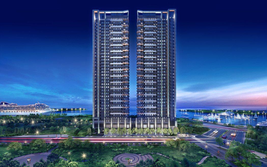 海灣&公園第一排的地理優勢,吸引來自北中南的客戶跨區購買。圖/ 興富發提供
