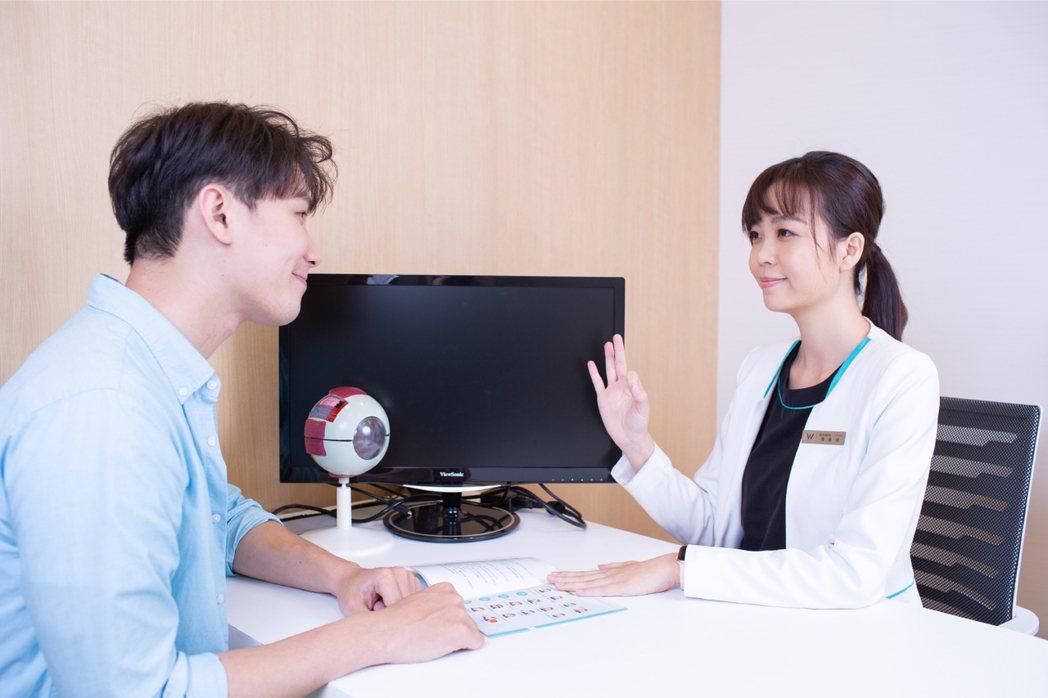 近視雷射術前諮詢均採一對一顧問式服務。 濰視眼科/提供。