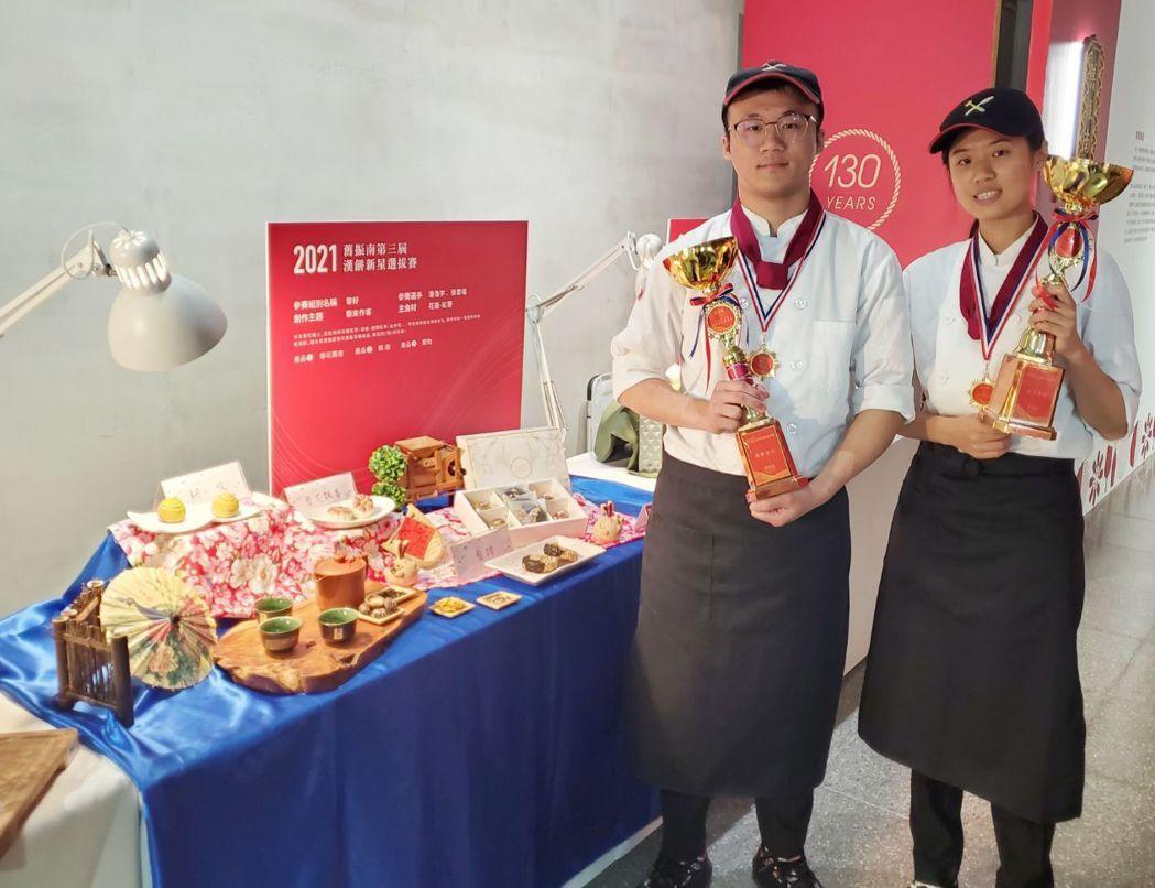 本屆獲得金獎的樹德科大隊名:藜好, 潘浩宇 、張雲瑄。 楊鎮州/攝影