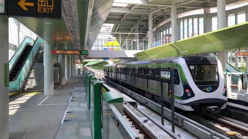 台中捷運綠線4月25日將正式通車。聯合報系資料照/記者喻文玟攝影