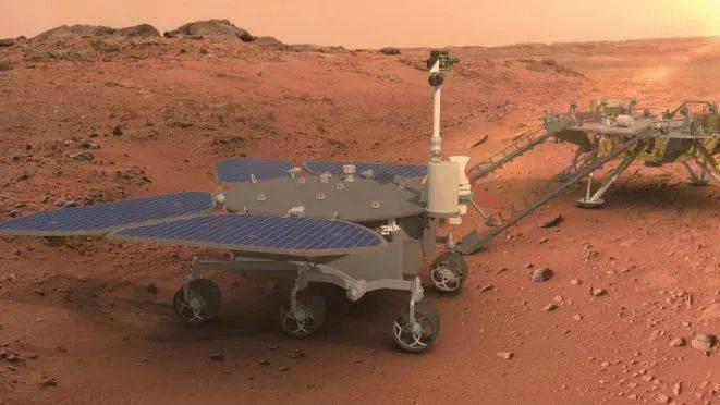 中國首輛火星車命名祝融號。圖源:大陸央視新聞