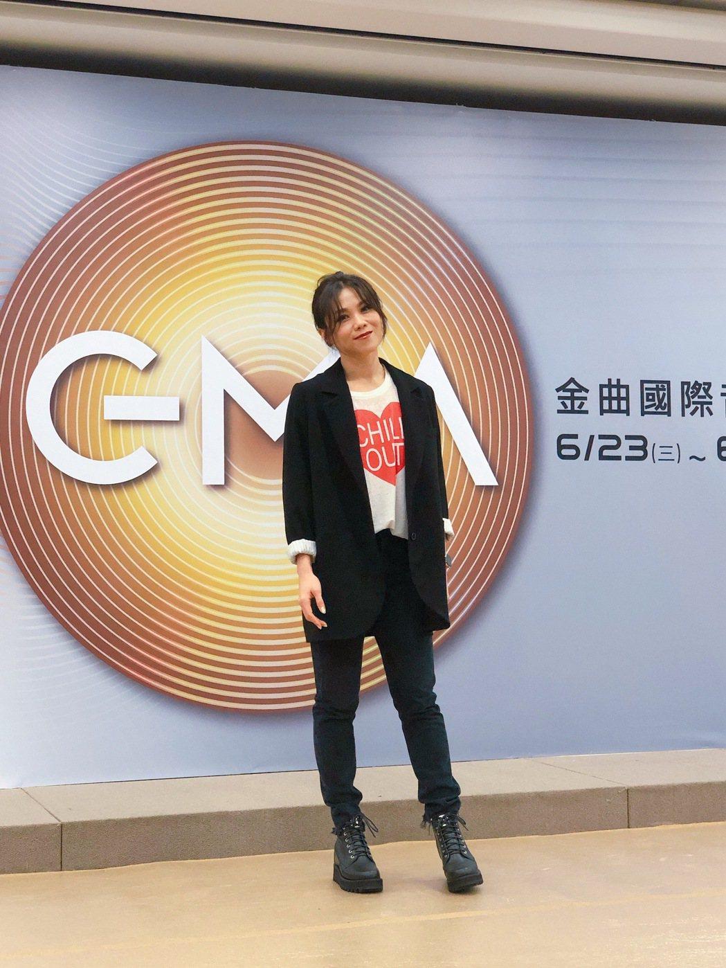 蔡健雅擔任「2021GMA金曲國際音樂節」系列活動講師。記者林士傑/攝影