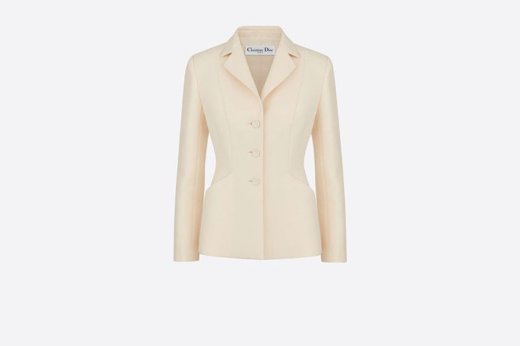 DIOR Bar Jacket白色單排釦束腰夾克,15萬5,000元。圖/DIO...