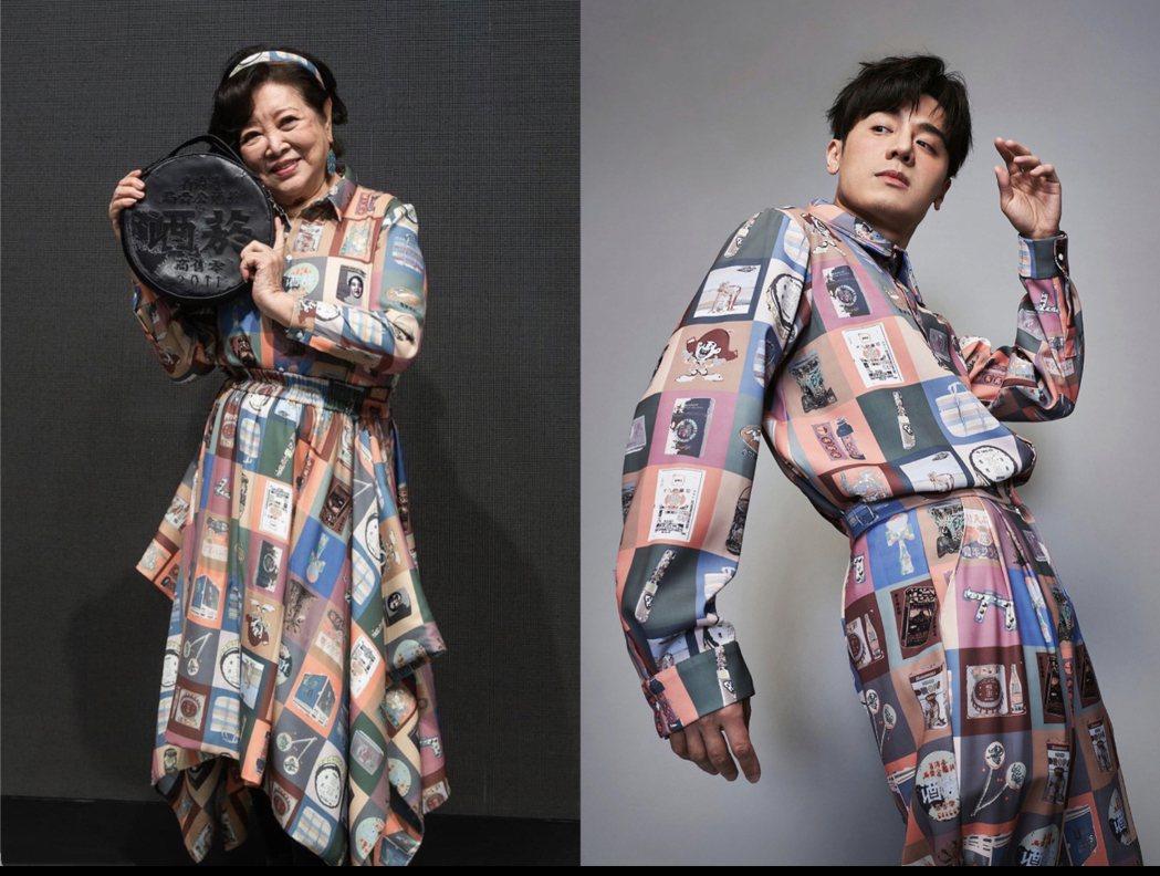 邱志宇(右)和陳淑芳在「期末考」沒對到戲,但各自為電影及「台北時裝周」宣傳,竟不...