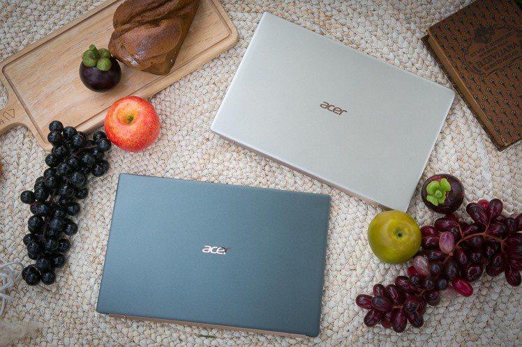 專為時尚行動上班族打造的14吋Acer Swift 5觸控筆電,迷霧綠金屬色極有...