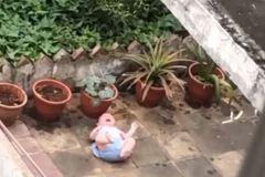 嬰兒被放陽台髒地大哭「後頭都盆栽」 鄰居直擊:父只顧澆花