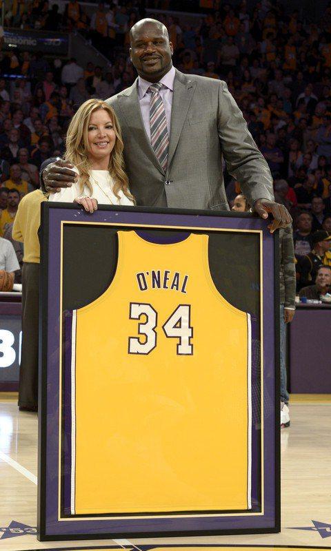 洛杉磯湖人隊老闆珍妮巴斯(Jeanie Buss)心目中的隊史前五名沒有歐尼爾。 歐新社