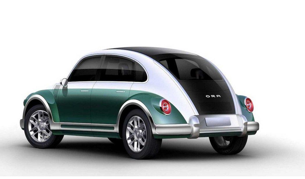 長城汽車旗下全新電動車歐拉朋克貓。 摘自Carscoops
