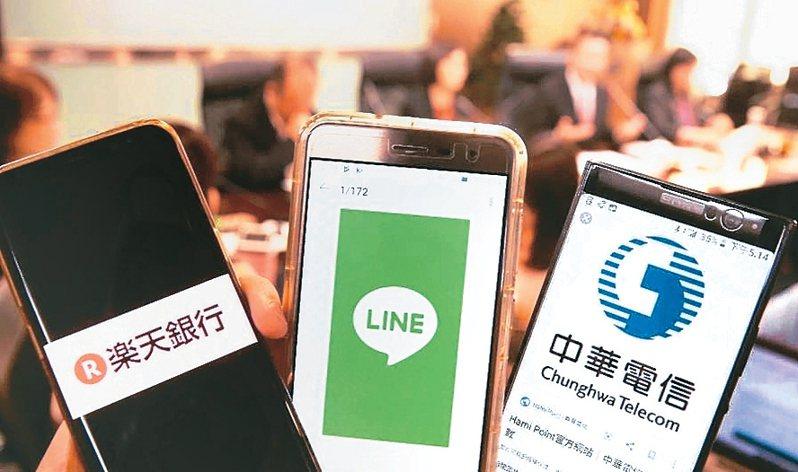 樂天銀行及連線銀行兩家純網銀成為數位存款帳戶生力軍,其中樂天銀行開戶數擠進前18大。 (聯合報系資料庫)