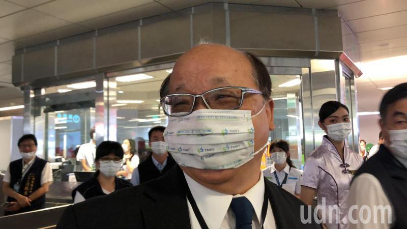 台中市前市長胡志強參加台中捷運正式通車典禮,他表示,開心又激動。記者陳秋雲/攝影