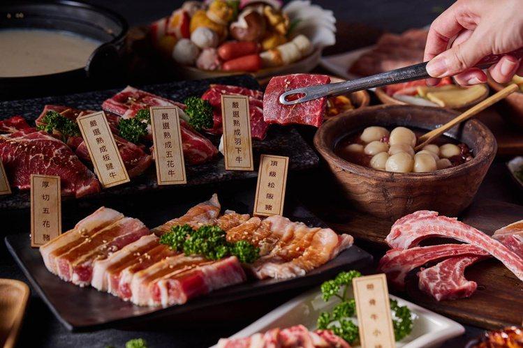 夢時代第一季推出全新日式頂級海陸燒肉饗宴「男前燒肉」,主打火烤兩吃,擁有多種的自...