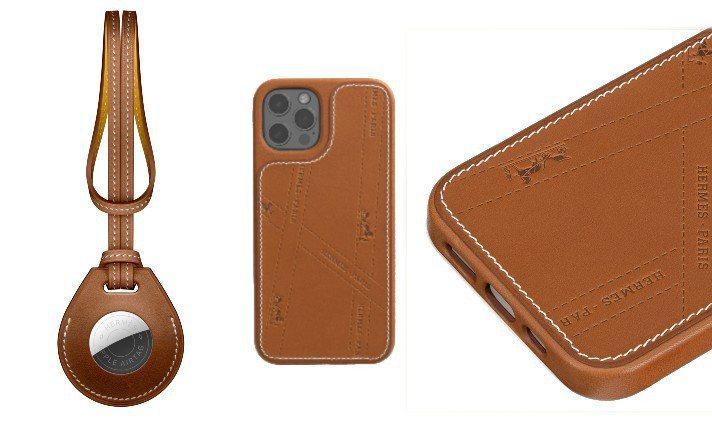 愛馬仕與Apple首次聯名推出AirTag、MagSafe手機保護殼。圖/愛馬仕...