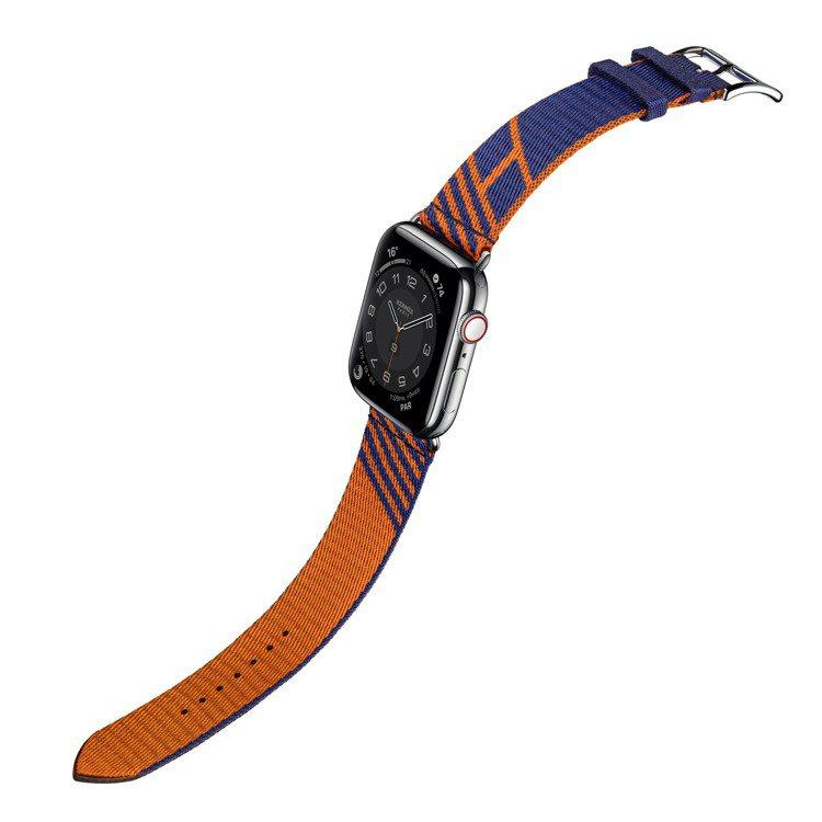 第六代Apple Watch Hermès_Jumping圖紋印花系列織帶表帶,...