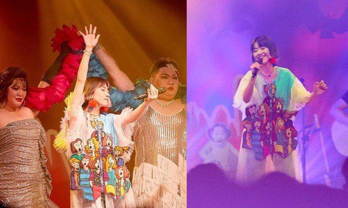 Lulu黃路梓茵昨晚在華山Legacy舉辦個人演唱會,身穿香港設計師陳志堅(Kin Chan)和鍾家偉(Lennon Chung)成立的品牌ATT.為她量身訂製的服裝。圖/寬宏提供、摘自IG