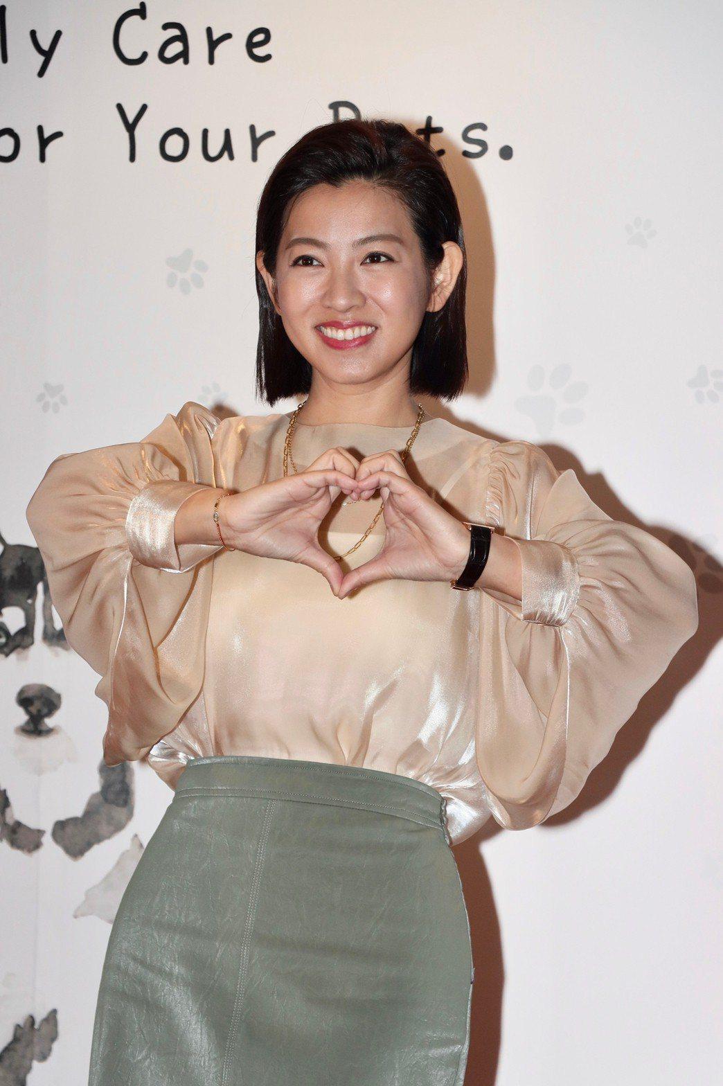 米可白出席寵物生醫產品活動。記者李政龍/攝影