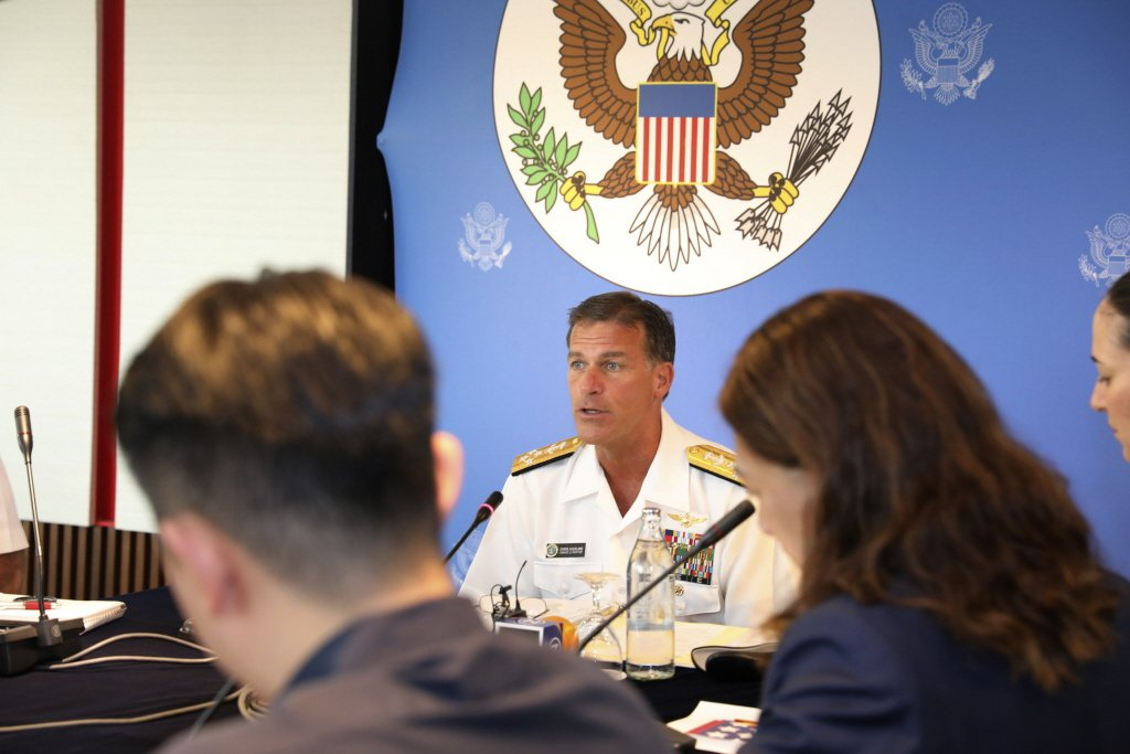 戴維森之繼任者阿奎利諾(ADM. John Aquilino)在國會表示,中共對台動武的期程甚至可能還不到六年。攝於2019年。 圖/美聯社