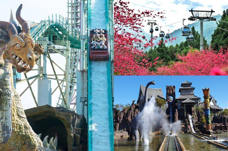 圖/義大遊樂世界臉書專頁、九族文化村臉書專頁、六福村提供