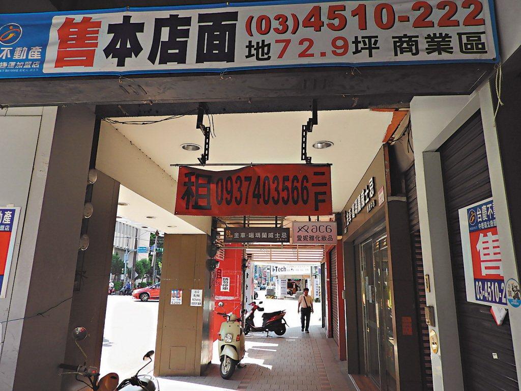 店面出租示意圖。 聯合報系資料照片/記者高宇震攝影