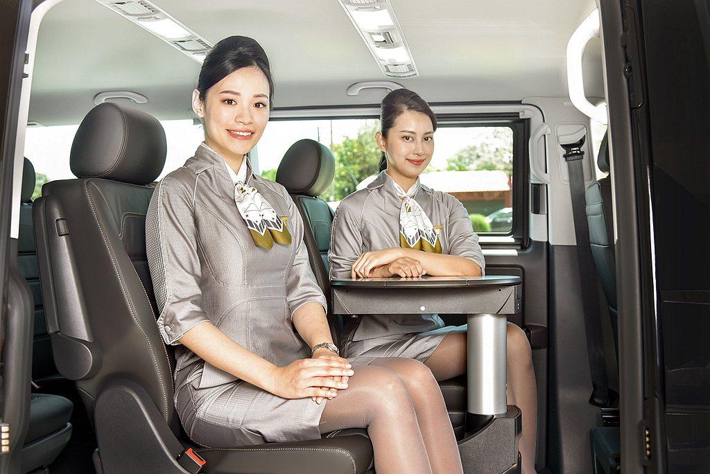 福斯商旅T6.1 Multivan長軸版車身加長400mm,內裝配置真皮座椅設計...