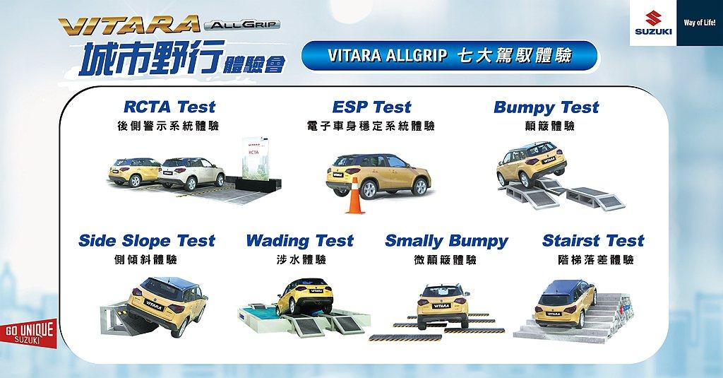 Suzuki Vitara ALLGRIP七大駕馭體驗。 圖/Suzuki提供