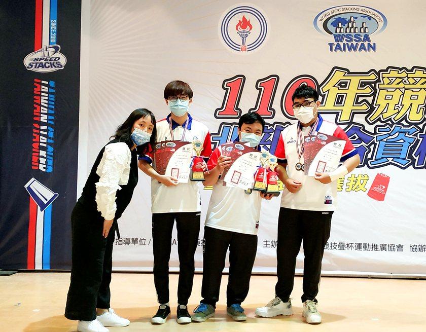 中國科大拿下「110年競技疊杯北部聯合資格賽」19歲以上組之3-3-3、3-6-...
