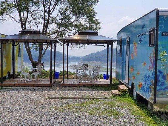 勻淨湖也開放露營車,讓民眾體驗露營樂趣。 勻淨湖/提供