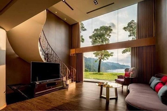 勻淨湖景觀湖景四人房,裝潢呈現歐式風格。 勻淨湖/提供